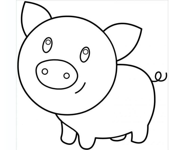 Hình vẽ đen trắng cho bé 3 tuổi tô màu (6)
