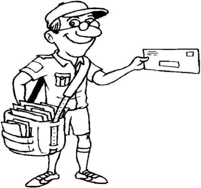Hình vẽ đen trắng chủ đề nghề nghiệp cho bé tô màu (1)