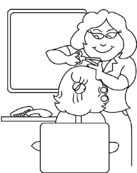 Hình vẽ đen trắng chủ đề nghề nghiệp cho bé tô màu (2)