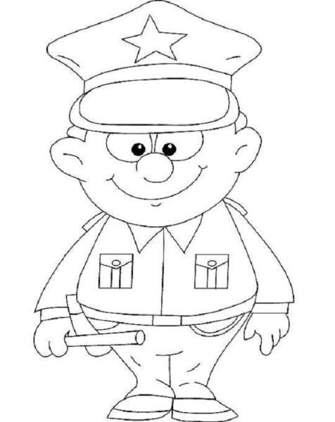 Hình vẽ đen trắng chủ đề nghề nghiệp cho bé tô màu (3)