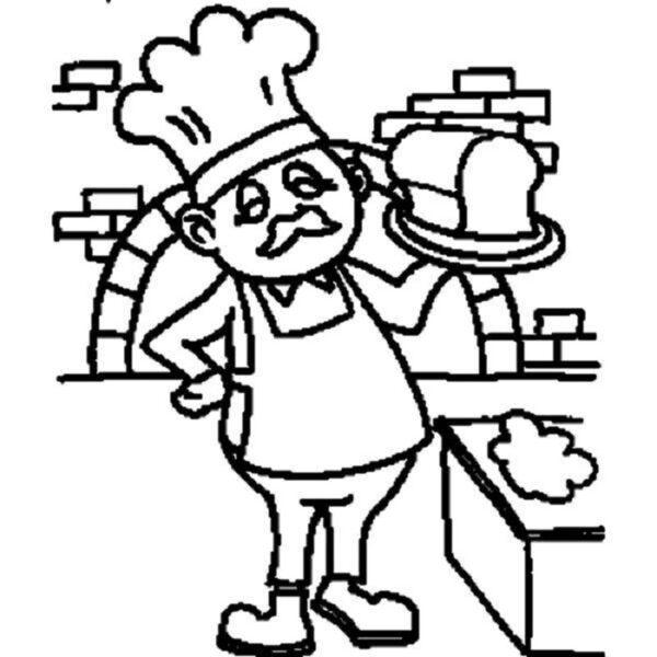 Hình vẽ đen trắng chủ đề nghề nghiệp cho bé tô màu (8)