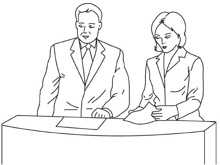 Hình vẽ đen trắng chủ đề nghề nghiệp cho bé tô màu (9)