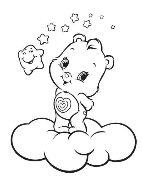 Hình vẽ đen trắng con gấu ngộ nghĩnh cho bé tô màu (1)