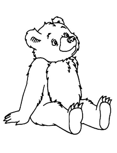 Hình vẽ đen trắng con gấu ngộ nghĩnh cho bé tô màu (3)