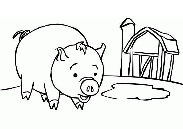 Hình vẽ đen trắng con vật chưa tô màu cho bé tập tô (1)
