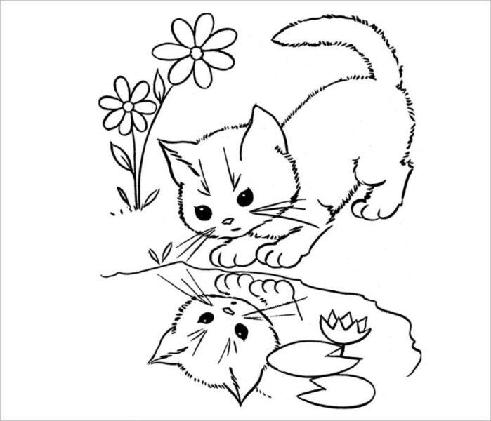 Hình vẽ đen trắng con vật chưa tô màu cho bé tập tô (2)