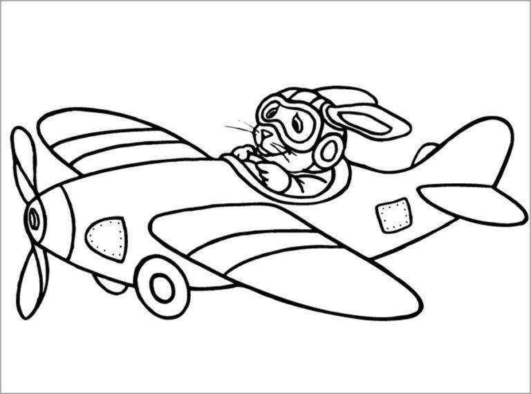 Hình vẽ đen trắng máy bay cho bé tô màu (8)