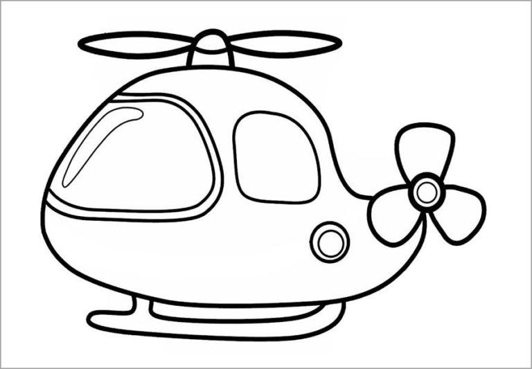 Hình vẽ đen trắng máy bay cho bé tô màu (9)