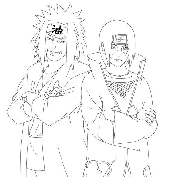 Hình vẽ đen trắng Naruto cho bé tô màu (1)