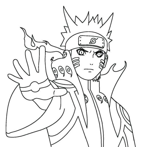 Hình vẽ đen trắng Naruto cho bé tô màu (3)
