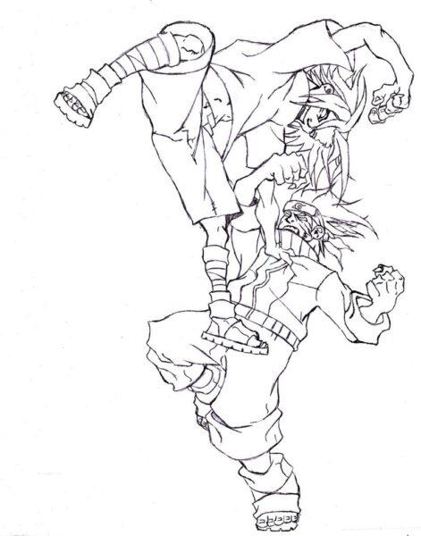 Hình vẽ đen trắng Naruto cho bé tô màu (4)