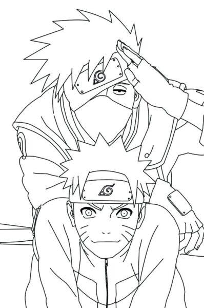 Hình vẽ đen trắng Naruto cho bé tô màu (5)