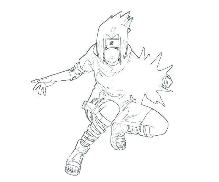 Hình vẽ đen trắng Naruto cho bé tô màu (6)
