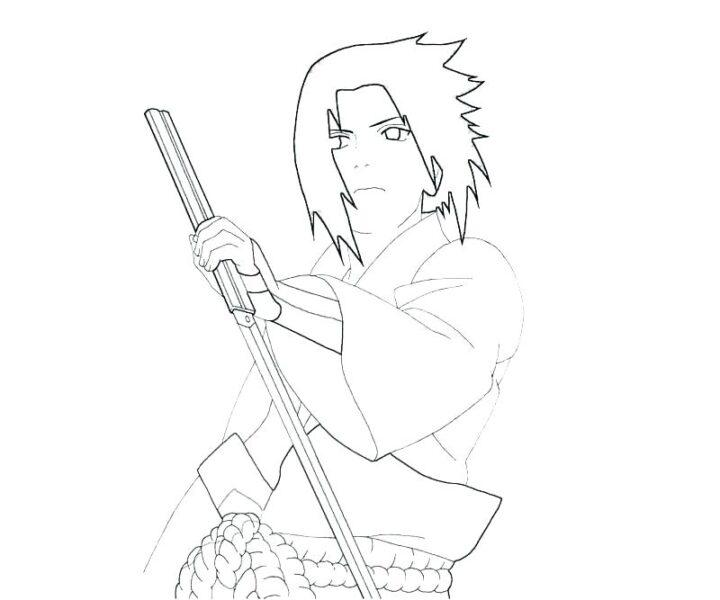 Hình vẽ đen trắng Naruto cho bé tô màu (9)