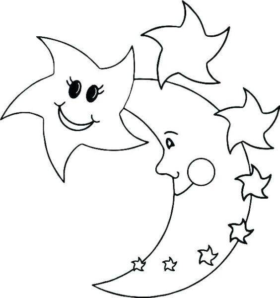 Hình vẽ đen trắng ngôi sao cho bé tập tô (1)