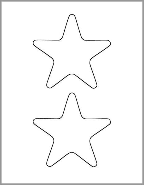 Hình vẽ đen trắng ngôi sao cho bé tập tô (3)
