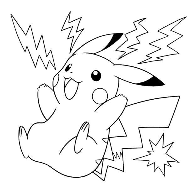 Hình vẽ đen trắng Pokemon cho bé tô màu (2)