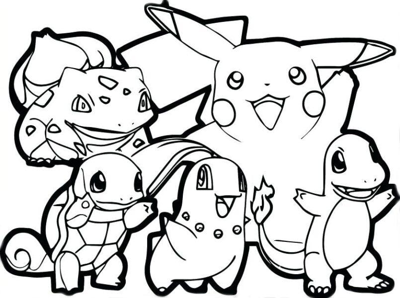 Hình vẽ đen trắng Pokemon cho bé tô màu (6)