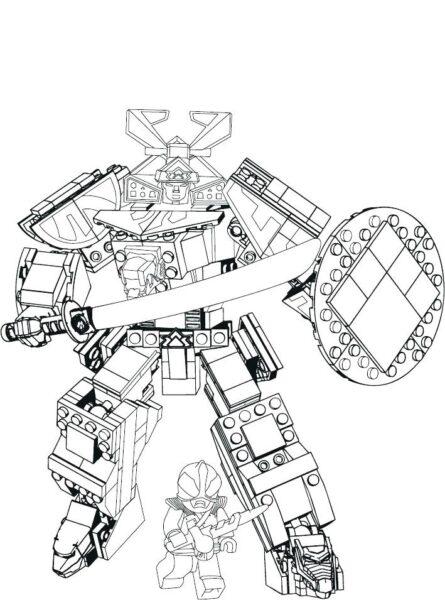 Hình vẽ đen trắng robot cho bé tô màu (1)