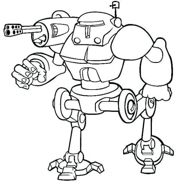 Hình vẽ đen trắng robot cho bé tô màu (2)