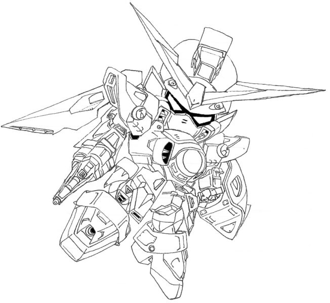 Hình vẽ đen trắng robot cho bé tô màu (6)