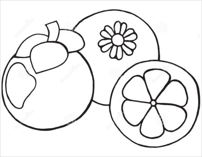 Hình vẽ đen trắng trái cây cho bé tô màu (7)