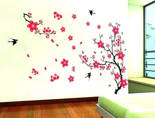 Hình vẽ họa tiết lên tường đẹp