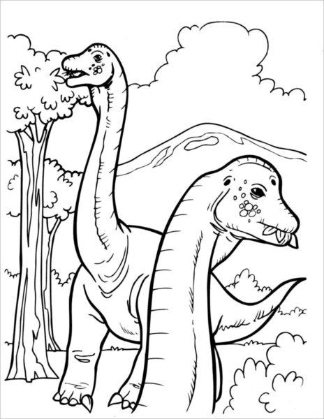 Hình vẽ khủng long đẹp, dễ thương cho bé tô màu (2)