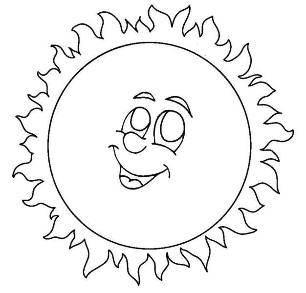 Hình vẽ ông mặt trời dễ thương