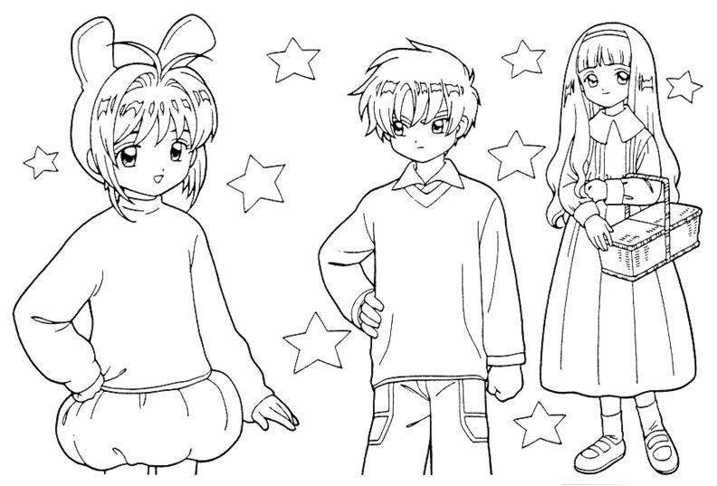 Hình vẽ tô màu Sakura cho bé tập tô (6)