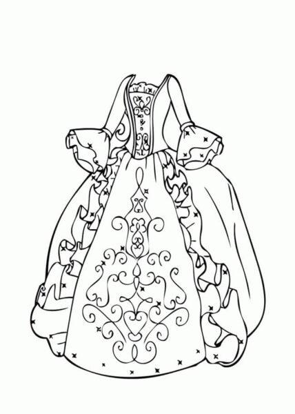 Hình vẽ váy công chúa