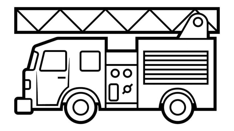 Hình vẽ xe cứu hoả