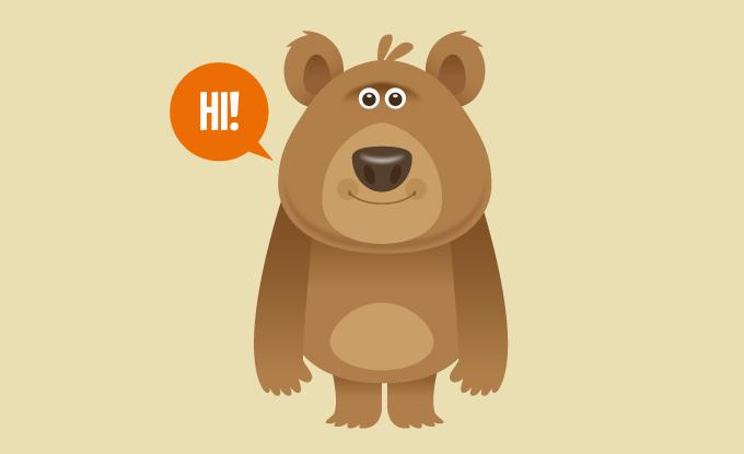 icon gấu béo ngố đáng yêu