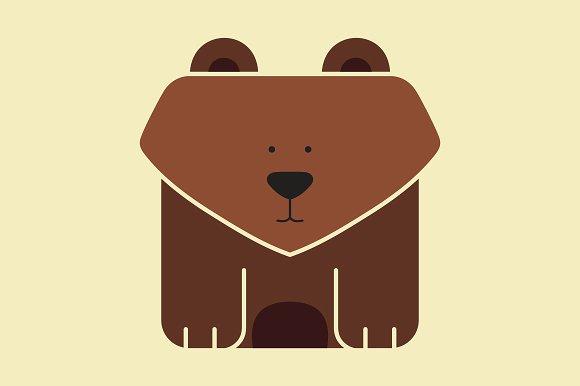 icon gấu gỗ độc đáo cute