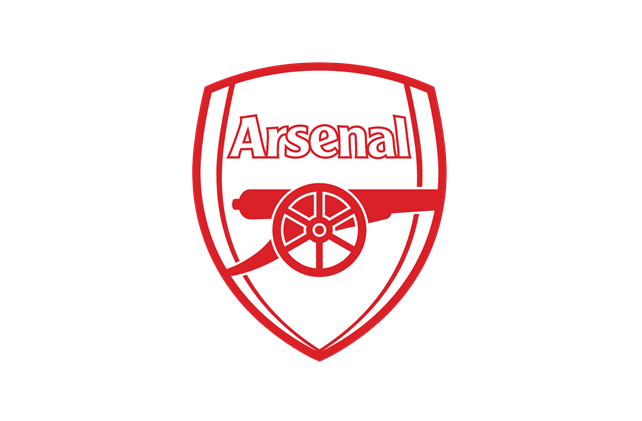 logo Arsenal trắng