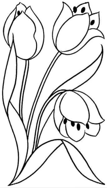 Những tranh tô màu bông hoa đẹp cho bé tập tô (1)