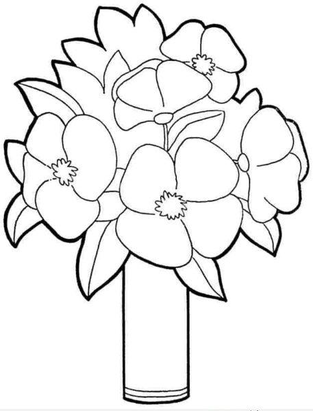 Những tranh tô màu bông hoa đẹp cho bé tập tô (2)