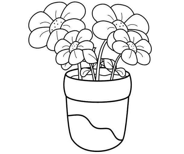 Những tranh tô màu bông hoa đẹp cho bé tập tô (4)