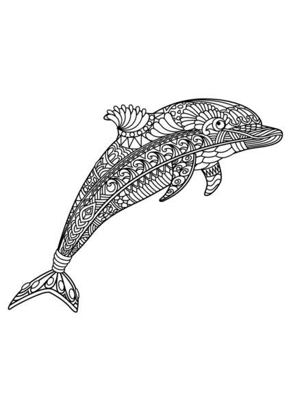 Những tranh tô màu cá heo đẹp nhất cho bé tập tô (2)