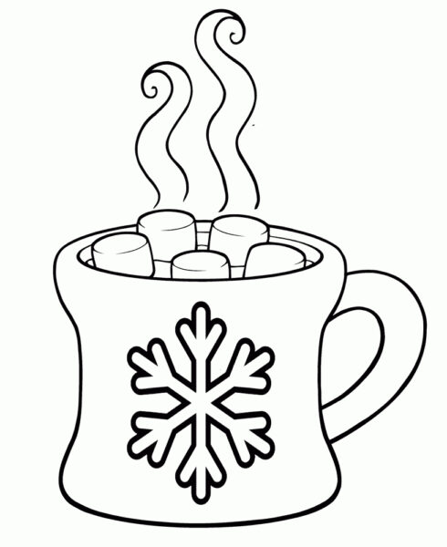 Printable Coloring Page Of Hot Chocolate Hot Chocolate Coloring