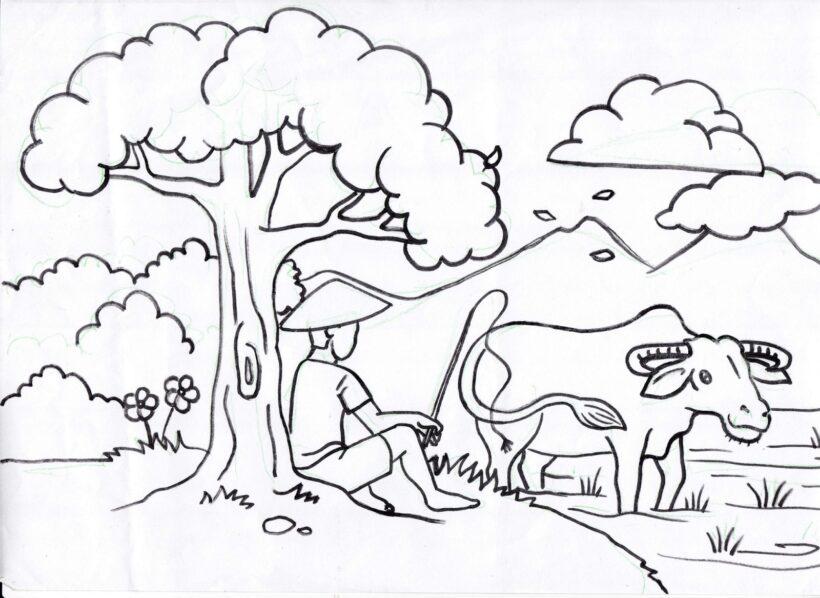 Những tranh tô màu cây xanh đẹp nhất cho bé tập tô (5)