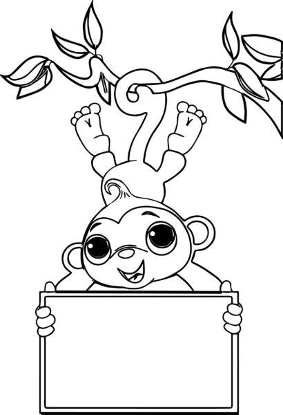 Những tranh tô màu con khỉ đẹp nhất cho bé tập tô (2)