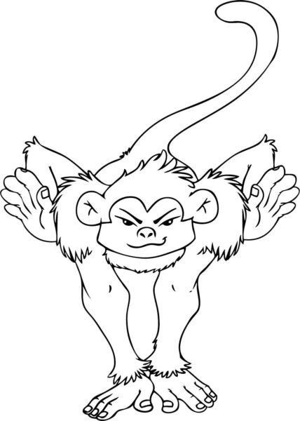 Những tranh tô màu con khỉ đẹp nhất cho bé tập tô (3)
