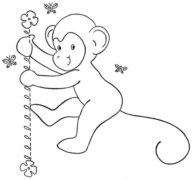 Những tranh tô màu con khỉ đẹp nhất cho bé tập tô (5)