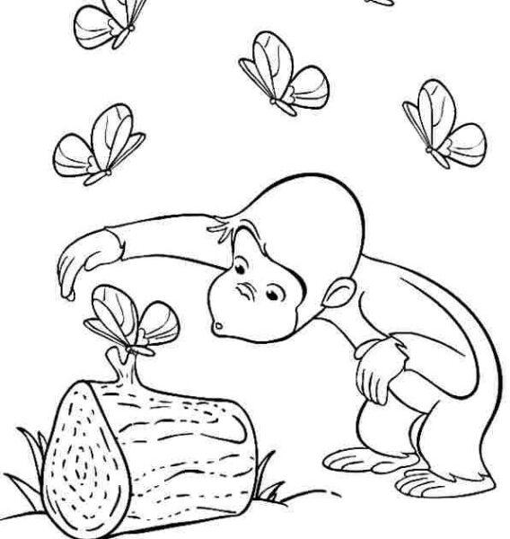 Những tranh tô màu con khỉ đẹp nhất cho bé tập tô (6)