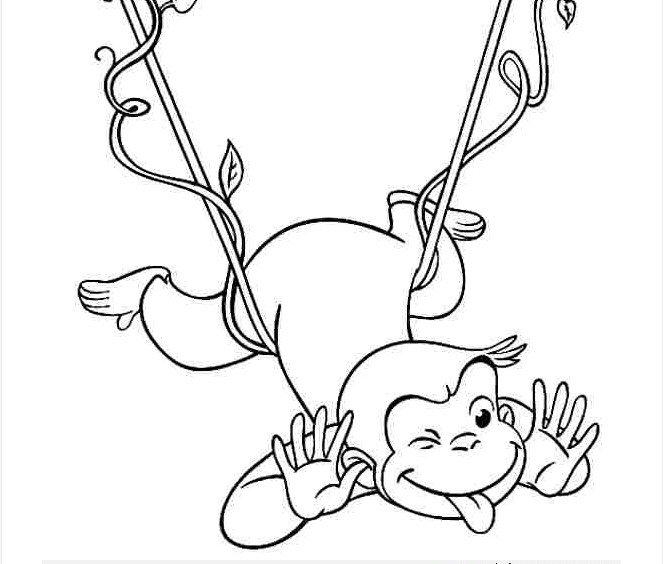 Những tranh tô màu con khỉ đẹp nhất cho bé tập tô (7)