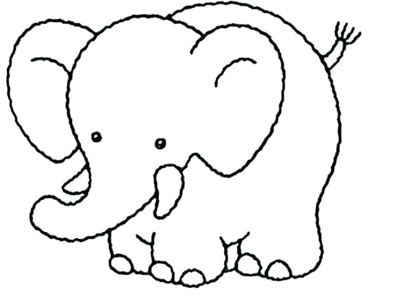 Những tranh tô màu con voi đẹp nhất cho bé tập tô (1)