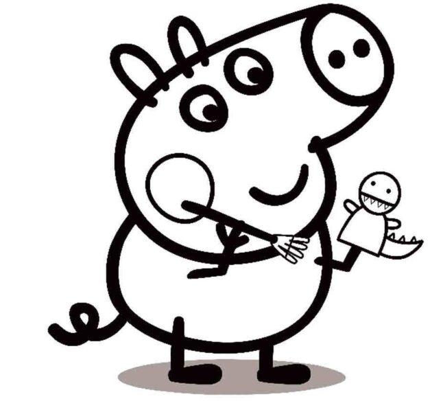 Những tranh tô màu heo Peppa cho bé tập tô (7)