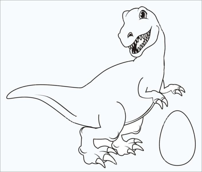 Những tranh tô màu khủng long đẹp nhất cho bé tập tô (1)