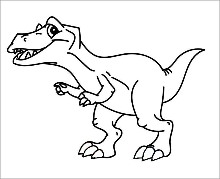 Những tranh tô màu khủng long đẹp nhất cho bé tập tô (2)